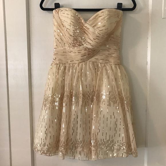 9fcc361683b Roberta Bridal Dresses | Roberta Champagne And Gold Sequin Dress ...